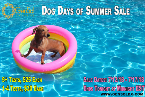 Dog Days of Summer Sale Ends TONIGHT! Midnight EST